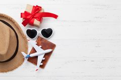Voyage de jour de valentines photo libre de droits