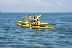 Voyage de kayak Image libre de droits