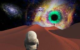 Voyage de l'espace Images libres de droits