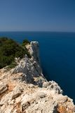 Voyage de l'Europe de mer de ciel bleu de nature d'été de Leucade Grèce Photo libre de droits
