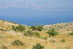 Voyage de l'Europe de mer de ciel bleu de nature d'été de Leucade Grèce Images libres de droits