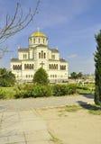 Voyage de la Crimée Khersones aux vues historiques de Vladimir Cathedral Photographie stock libre de droits