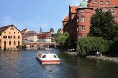 voyage de la France Strasbourg de bateau d'Alsace Photographie stock
