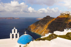 Voyage de la Grèce de paysage d'île de Santorini Image libre de droits
