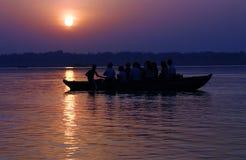 Voyage de lever de soleil Photographie stock libre de droits