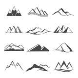 Voyage de logo de montagnes illustration stock