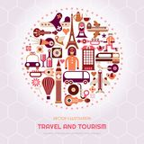 Voyage de Londres et de Paris illustration libre de droits