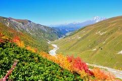 Voyage de Mestia-Ushguli, Svaneti la Géorgie Photos libres de droits