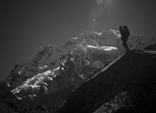 Voyage de montagne Images stock