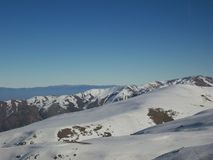 Voyage de montagne chez les Andes Photos libres de droits
