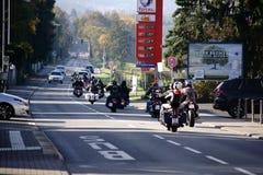 Voyage de moto image stock
