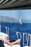 Voyage de navigation Image libre de droits