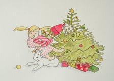 Voyage de Noël de Flora Photos libres de droits