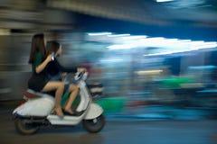 Voyage de nuit de filles vietnamiennes Photos stock