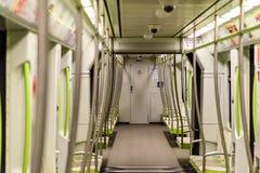 Voyage de personnes en le métro dans Valencia City du centre Image libre de droits