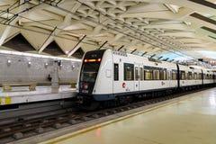 Voyage de personnes en le métro dans Valencia City du centre Images libres de droits
