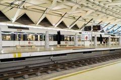 Voyage de personnes en le métro dans Valencia City du centre Images stock