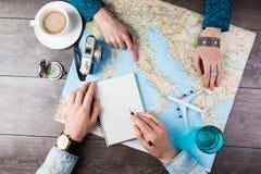 Voyage de planification vers l'Europe Image libre de droits