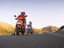 Voyage de scooter Photographie stock