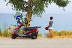 Voyage de scooteur Photographie stock