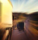 Voyage de tache floue de voitures de route d'automne Photo libre de droits