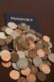 voyage de temps de penny images stock