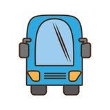 Voyage de transport terrestre de vehicule d'autobus Image libre de droits
