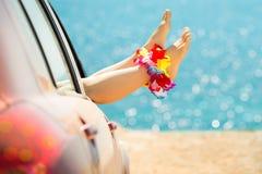 Voyage de voiture d'été Photographie stock