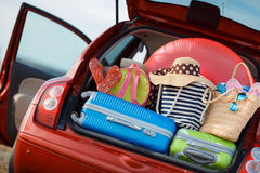 Voyage de voiture familiale Photos stock