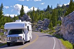Voyage de Yellowstone rv Photographie stock libre de droits