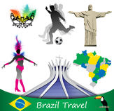 Voyage du Brésil, vecteur Photos libres de droits
