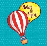 Voyage en air de ballon chaud illustration libre de droits