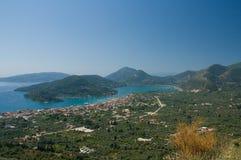 Voyage en mer de ciel bleu de bateau de Leucade Grèce Nydri Steno Vlicho l'Europe Photographie stock