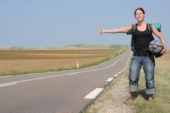 Voyage en stop Image libre de droits