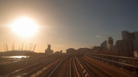 Voyage en train direct de POV Hyperlapse à Londres R-U clips vidéos