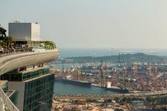Voyage et industries maritimes d'affaires à Singapour Image libre de droits