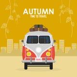 Voyage et voyage de famille de temps d'automne illustration libre de droits