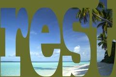 Voyage exotique tropical de plage d'île et de sable Images libres de droits