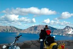 Voyage faisant du vélo Image libre de droits