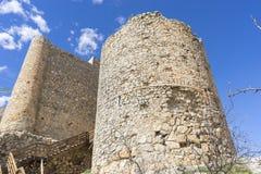 Voyage, forteresse et château de Consuegra à Toledo, Espagne medie Images libres de droits