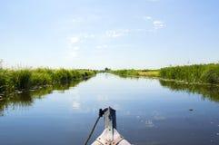 Voyage Giethoorn de bateau Image libre de droits