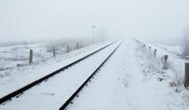 Voyage hivernal à l'infini photo stock