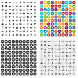 100 voyage icons set vector variant. 100 voyage icons set vector in 4 variant for any web design isolated on white Stock Photos