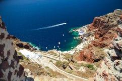Voyage idyllique vers l'île de Santorini Photos libres de droits