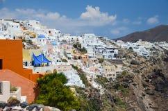 Voyage idyllique vers l'île de Santorini Image libre de droits