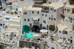 Voyage idyllique vers l'île de Santorini Photo libre de droits