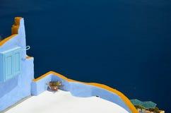 Voyage idyllique vers l'île de Santorini Image stock