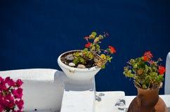Voyage idyllique vers l'île de Santorini Photographie stock