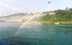 Voyage inoubliable d'été aux chutes du Niagara Image libre de droits