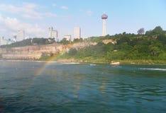 Voyage inoubliable d'été aux chutes du Niagara Arc-en-ciel Photo stock